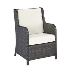 Home Styles Riviera Patio Chair in Deep Brown