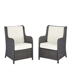 Home Styles Riviera Patio Chair in Deep Brown (Set of 2)
