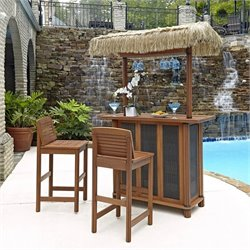 Tiki 3 Piece Patio Pub Set in Eucalyptus