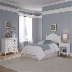 Twin Headboard 3 Piece Bedroom Set in White