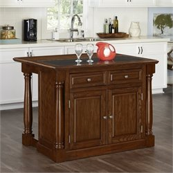 Home Styles Monarch Kitchen Island with Granite Top in Oak