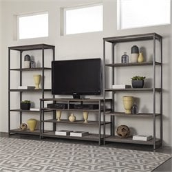 3 Piece Entertainment Center in Gray