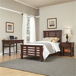 Twin Headboard 3 Piece Bedroom Set in Chestnut