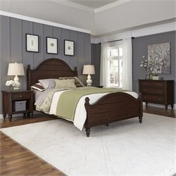 King Bed 4 Piece Bedroom Set in Bourbon