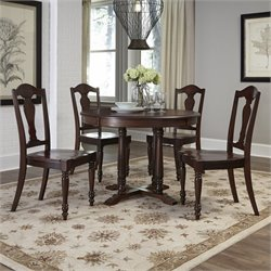 5 Piece Dining Set in Aged Bourbon