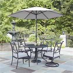 5 Piece Dining Set in Charcoal