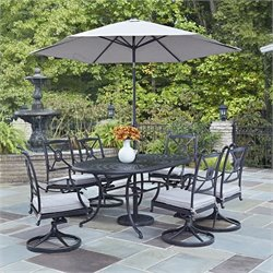 7 Piece Dining Set in Charcoal