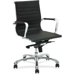 Lorell Modern Chair Srs Mid-back Leather Chair