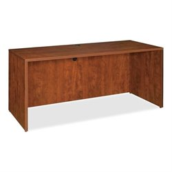Lorell Essentials Laminate Computer Desk Shell in Cherry (2)