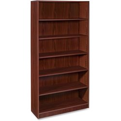 Lorell Essentials Srs Mahogany Laminate Bookcase