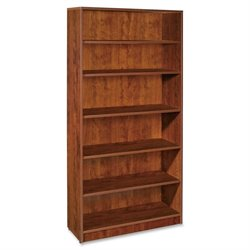 Lorell Essentials Series Cherry Laminate Bookcase