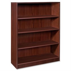 Lorell Essentials Laminate Bookcase in Mahogany