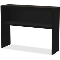Lorell Comm. Desk Series Black Stack-on Hutch