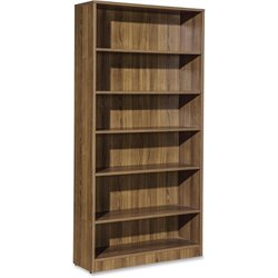 Lorell Essentials Laminate Bookcase in Walnut