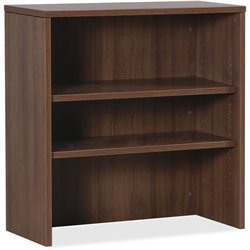 Lorell Essentials Walnut Lamnt Stack-on Bookshelf