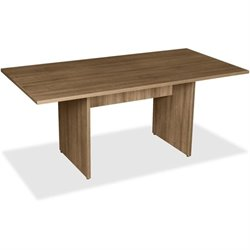 Lorell 2-panel Base Rectnglr Walnut Conf. Table