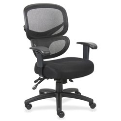 Lorell Fabric Seat Mesh Back Executive Chair