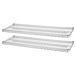 Lorell Chrome Wire Shelving Unit Extra Shelves