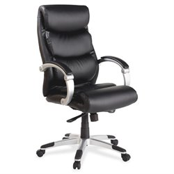 Lorell Executive Flex Arms Leather High-back Chair