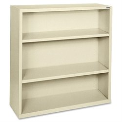 Lorell Fortress Series Putty Steel Bookcases