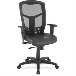 Lorell Executive Leather Seat High-back Chair
