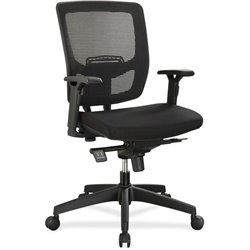 Lorell Executive Mesh Adjustable Height Mid-back Chair