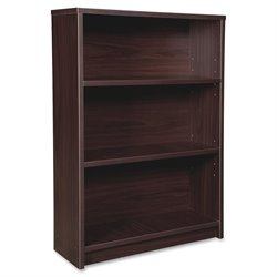 Lorell Prominence 3-Shelf Espresso Bookcase