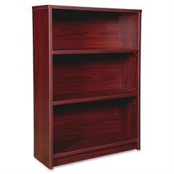 Lorell Prominence Srs Mahogany 3-Shelf Bookcase