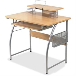 Lorell Upper Shelf Laminate Computer Desk