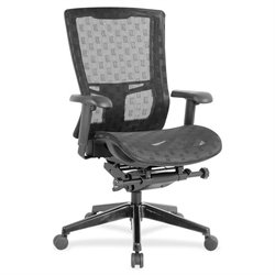 Lorell Checkerboard Design High-back Mesh Chair