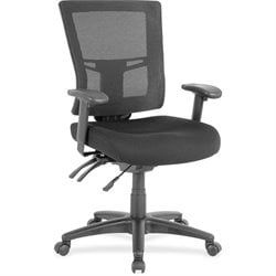 Lorell Swivel Mid-back Mesh Chair