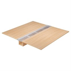 Lorell Concordia Srs Latte Laminate Desk Ensemble